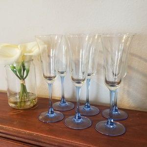 Vintage Luminarc Champagne Flutes